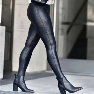 Spanx Faux Leather High Waisted Leggings L